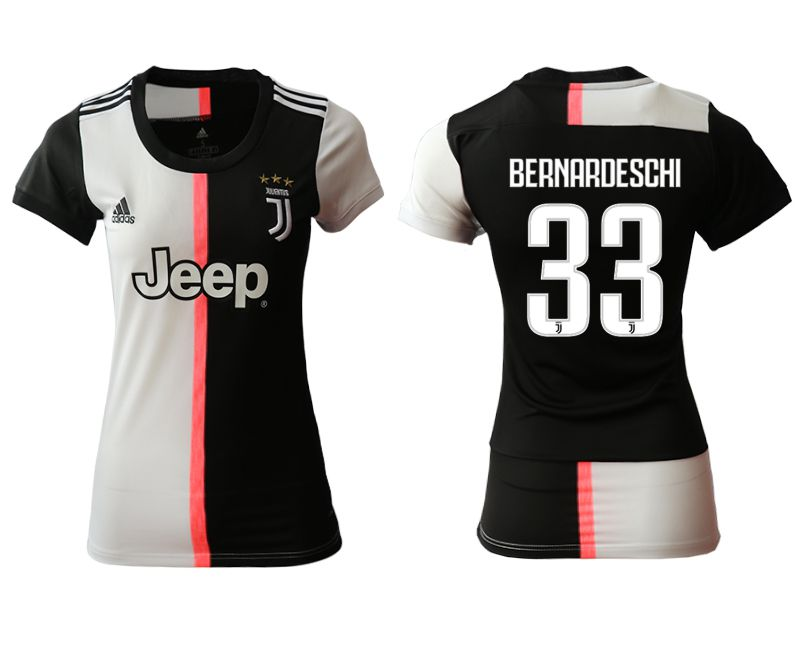 Women 2019-2020 club Juventus home aaa version 33 black Soccer Jerseys