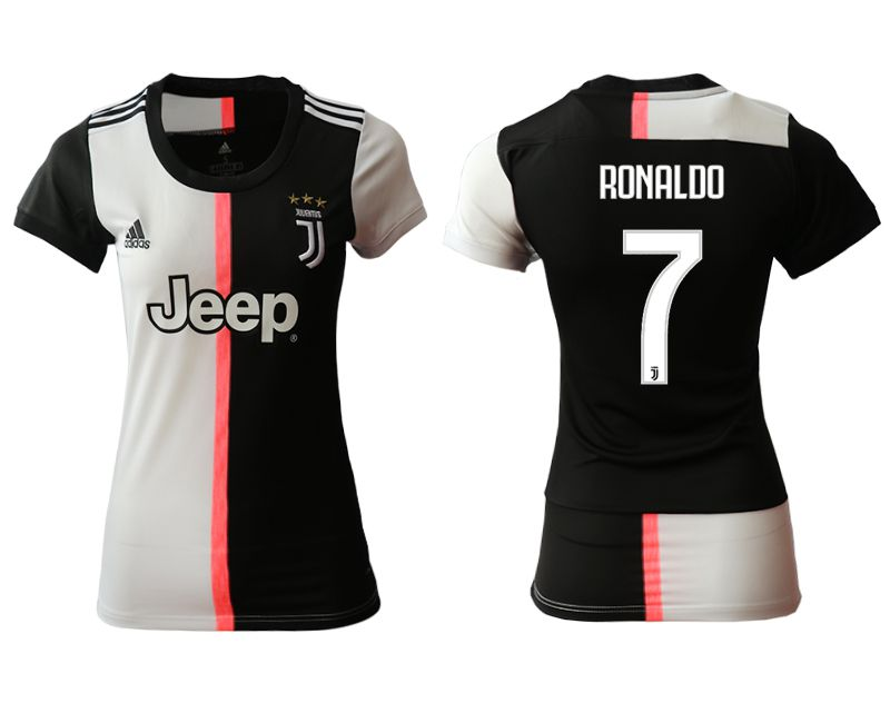 Women 2019-2020 club Juventus home aaa version 7 black Soccer Jerseys