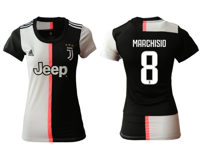 Women 2019-2020 club Juventus home aaa version 8 black Soccer Jerseys