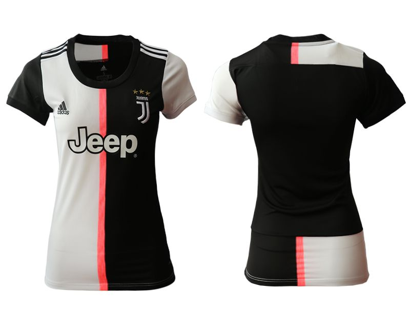 Women 2019-2020 club Juventus home aaa version black Soccer Jerseys