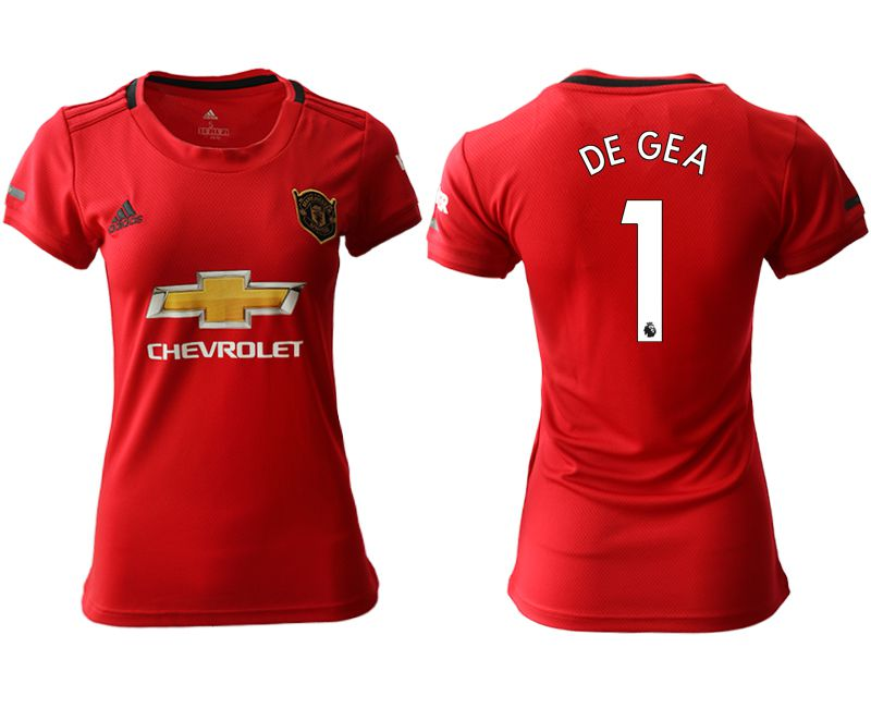 Women 2019-2020 club Manchester United home aaa version 1 red Soccer Jerseys