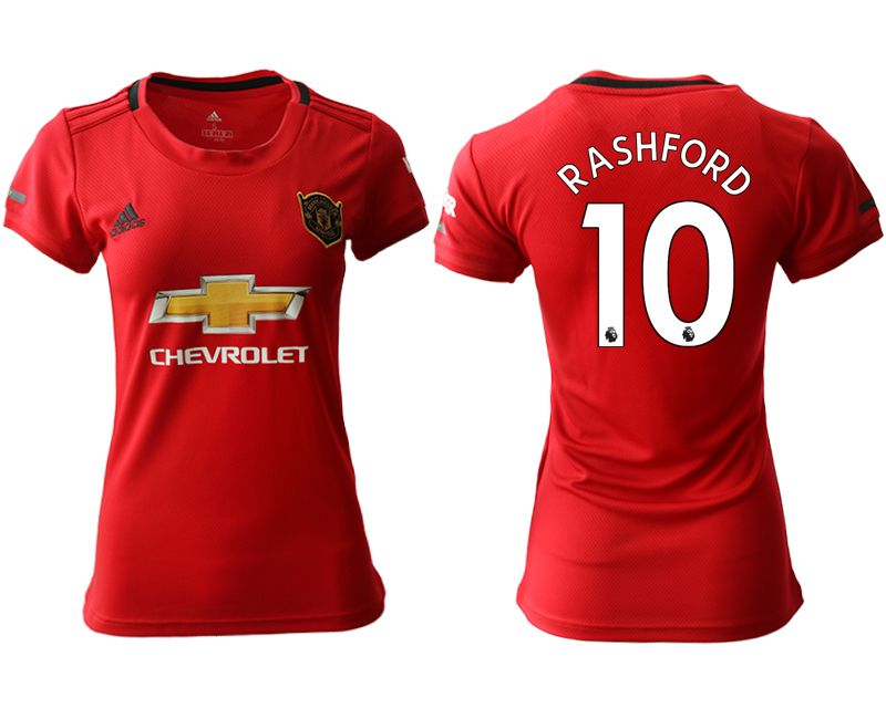 Women 2019-2020 club Manchester United home aaa version 10 red Soccer Jerseys