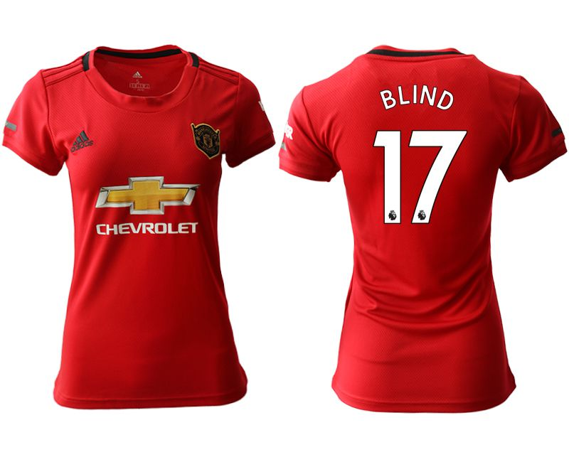 Women 2019-2020 club Manchester United home aaa version 17 red Soccer Jerseys