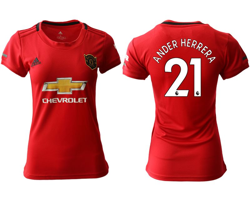 Women 2019-2020 club Manchester United home aaa version 21 red Soccer Jerseys