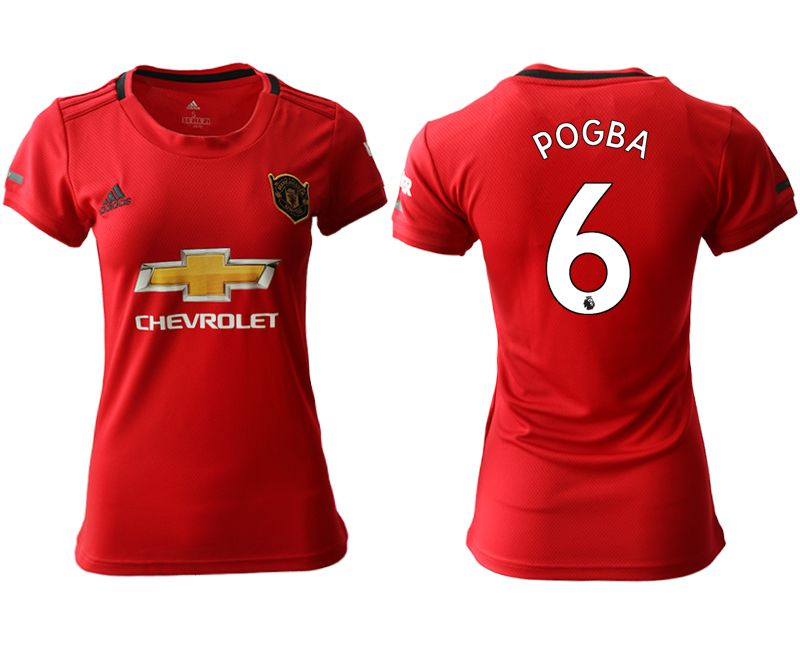 Women 2019-2020 club Manchester United home aaa version 6 red Soccer Jerseys