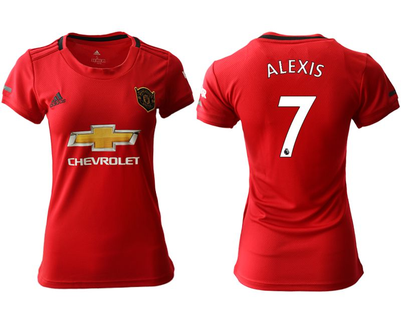 Women 2019-2020 club Manchester United home aaa version 7 red Soccer Jerseys