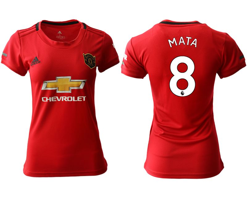 Women 2019-2020 club Manchester United home aaa version 8 red Soccer Jerseys