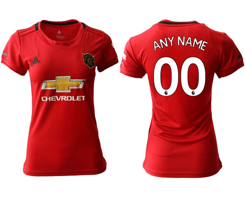 Women 2019-2020 club Manchester United home aaa version customized red Soccer Jerseys