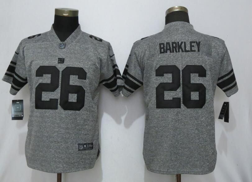 Women New York Giants 26 Barkley Gray 2019 Nike Vapor Untouchable Stitched Gridiron Gray Limited NFL Jerseys