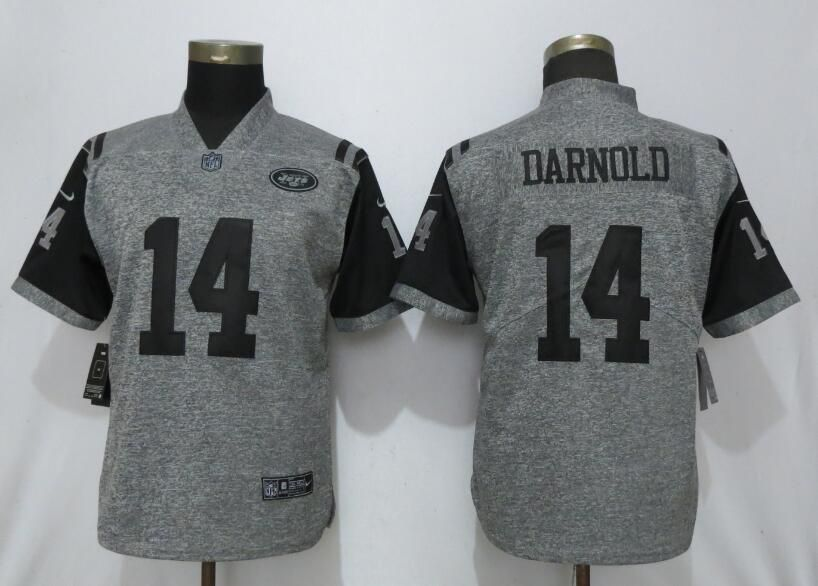 Women New York Jets 14 Darnold Gray 2019 Nike Vapor Untouchable Stitched Gridiron Gray Limited NFL Jerseys