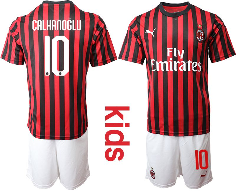 Youth 2019-2020 club AC milan home 10 red Soccer Jerseys