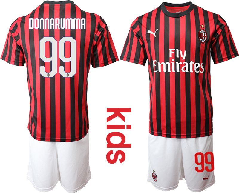 Youth 2019-2020 club AC milan home 99 red Soccer Jerseys