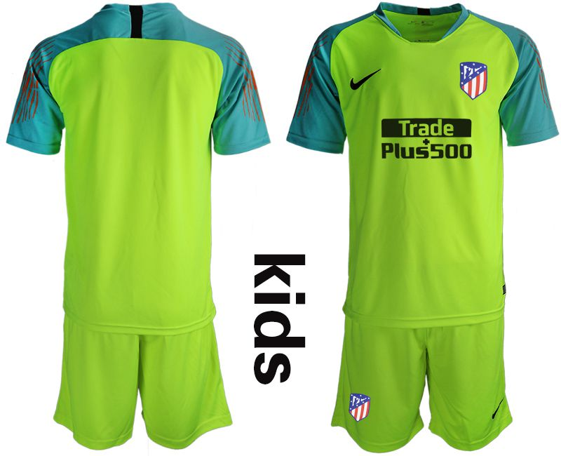 Youth 2019-2020 club Atletico Madrid fluorescent green goalkeeper Soccer Jerseys