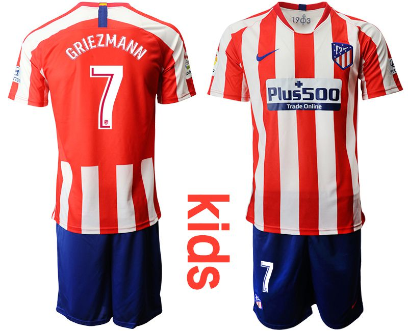 Youth 2019-2020 club Atletico Madrid home 7 red Soccer Jerseys