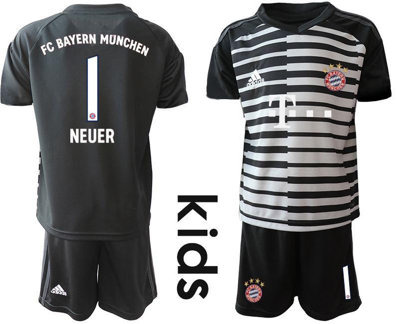 Youth 2019-2020 club Bayern Munich black goalkeeper 1 Soccer Jerseys1