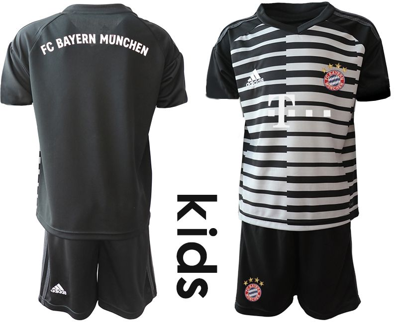 Youth 2019-2020 club Bayern Munich black goalkeeper Soccer Jerseys1