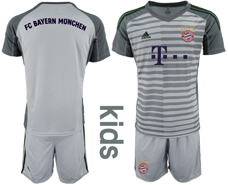 Youth 2019-2020 club Bayern Munich gray goalkeeper Soccer Jerseys