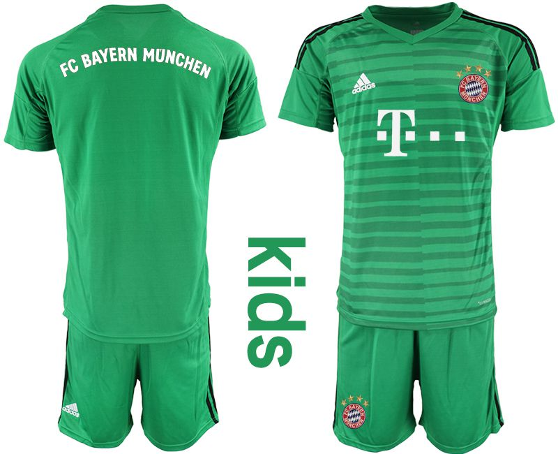 Youth 2019-2020 club Bayern Munich green goalkeeper Soccer Jerseys