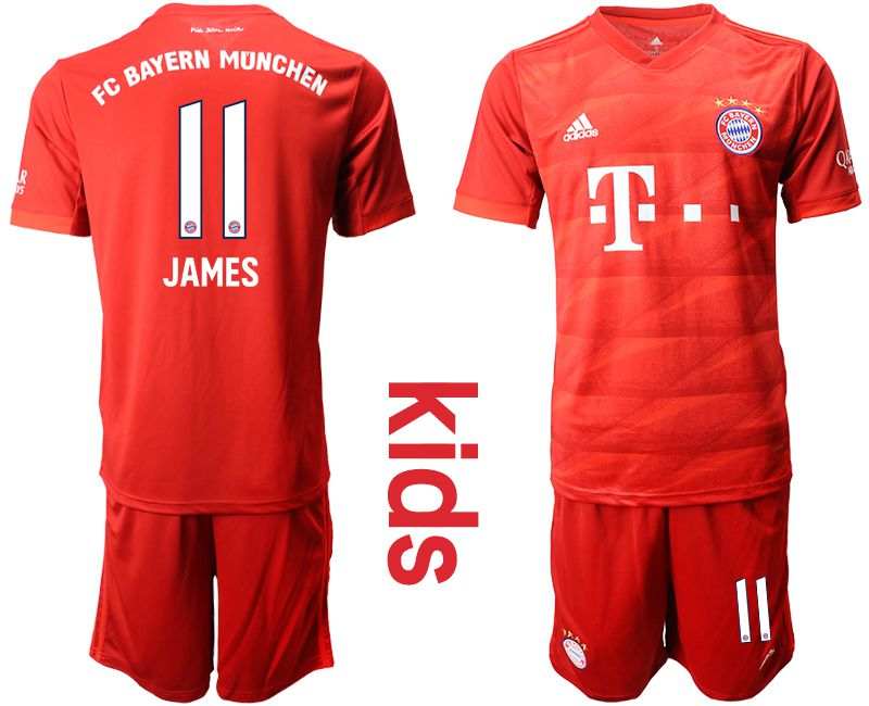 Youth 2019-2020 club Bayern Munich home 11 red Soccer Jerseys
