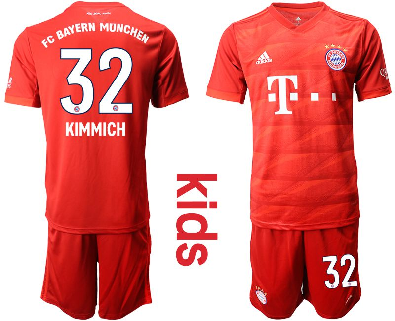 Youth 2019-2020 club Bayern Munich home 32 red Soccer Jerseys