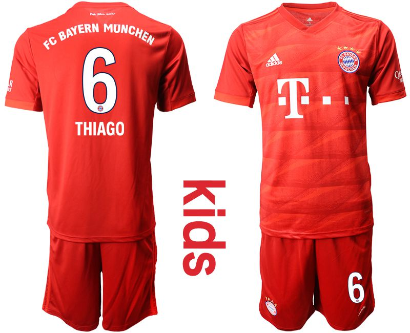 Youth 2019-2020 club Bayern Munich home 6 red Soccer Jerseys