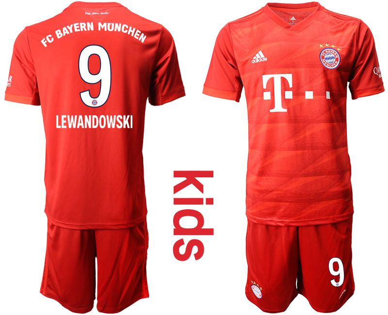 Youth 2019-2020 club Bayern Munich home 9 red Soccer Jerseys