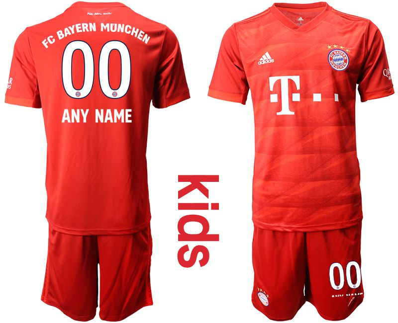 Youth 2019-2020 club Bayern Munich home customized red Soccer Jerseys
