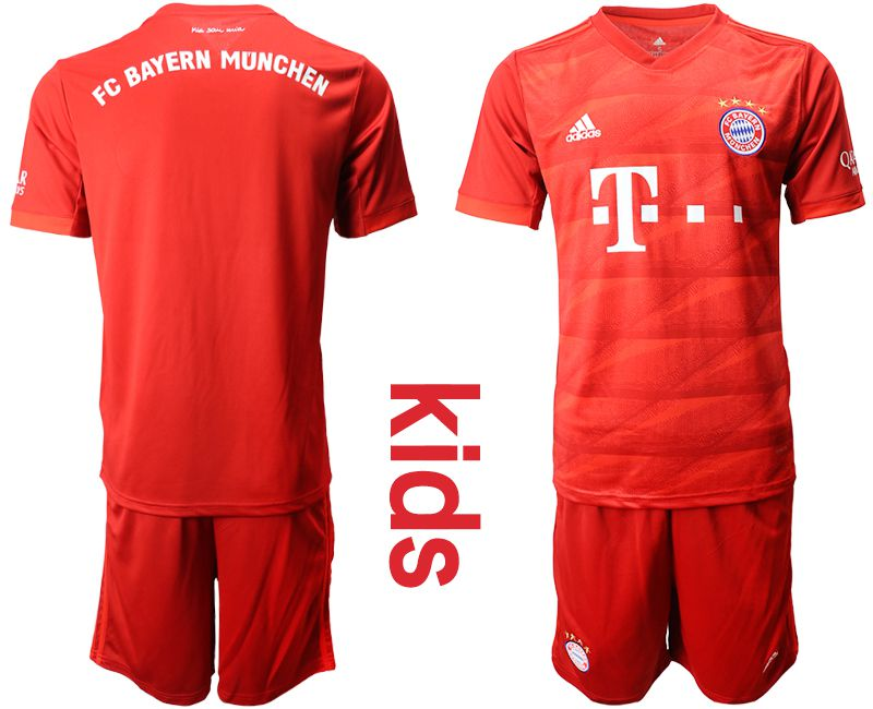 Youth 2019-2020 club Bayern Munich home red Soccer Jerseys