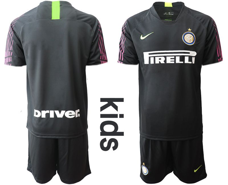 Youth 2019-2020 club Inter Milan black goalkeeper Soccer Jerseys
