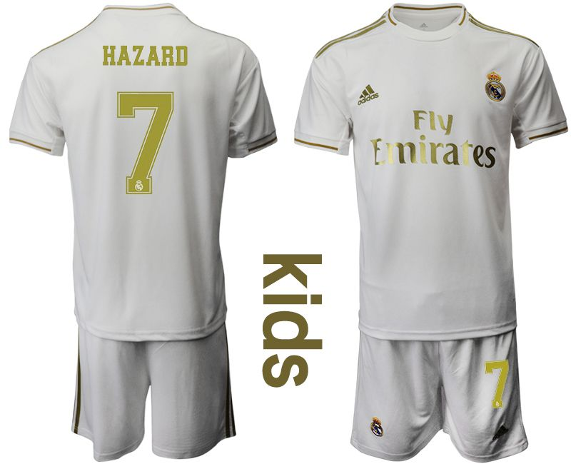 Youth 2019-2020 club Real Madrid home 7 white Soccer Jerseys