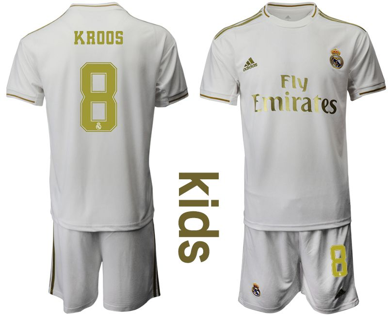 Youth 2019-2020 club Real Madrid home 8 white Soccer Jerseys