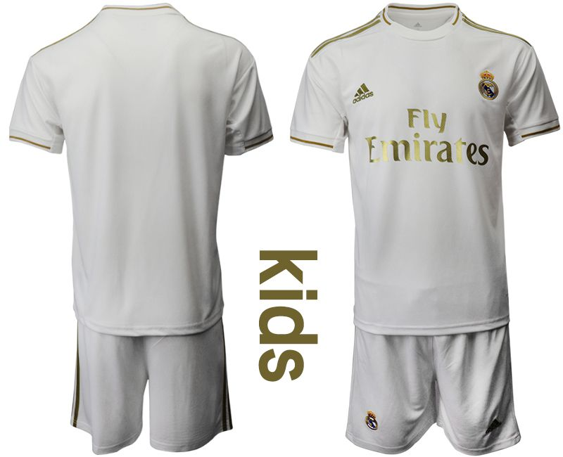 Youth 2019-2020 club Real Madrid home white Soccer Jerseys