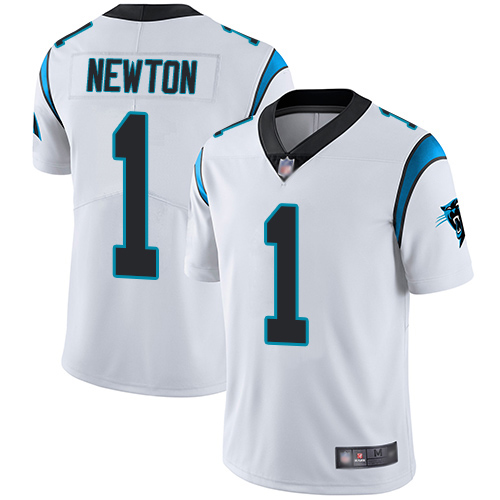 Youth Nike Carolina Panthers 1 Cam Newton White Vapor Untouchable Limited Stitched NFL Jersey