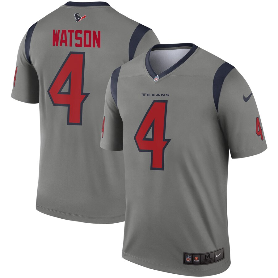 2019 Men Houston Texans 4 Watson grey Nike Limited Player NFL Jerseys