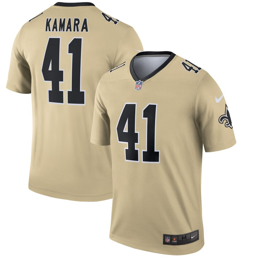 2019 Men New Nike New Orleans Saints 41 Kamara yellow Limited Jersey