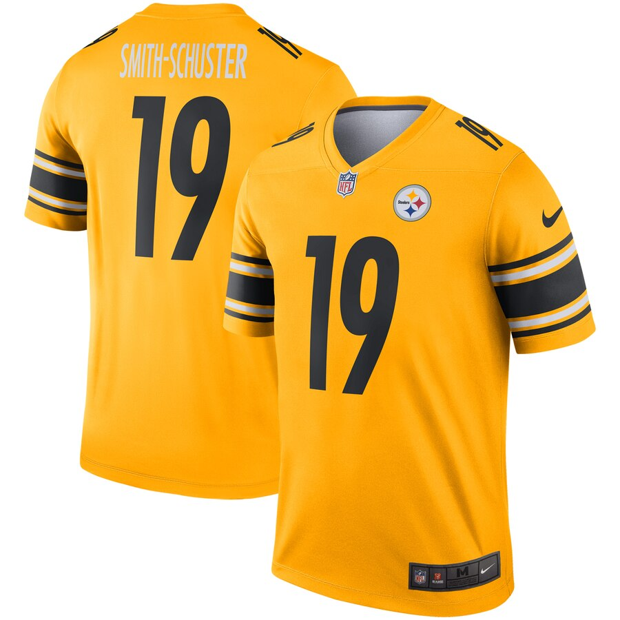 2019 Men Pittsburgh Steelers 19 Smith-Schuster White Nike Limited NFL Jerseys