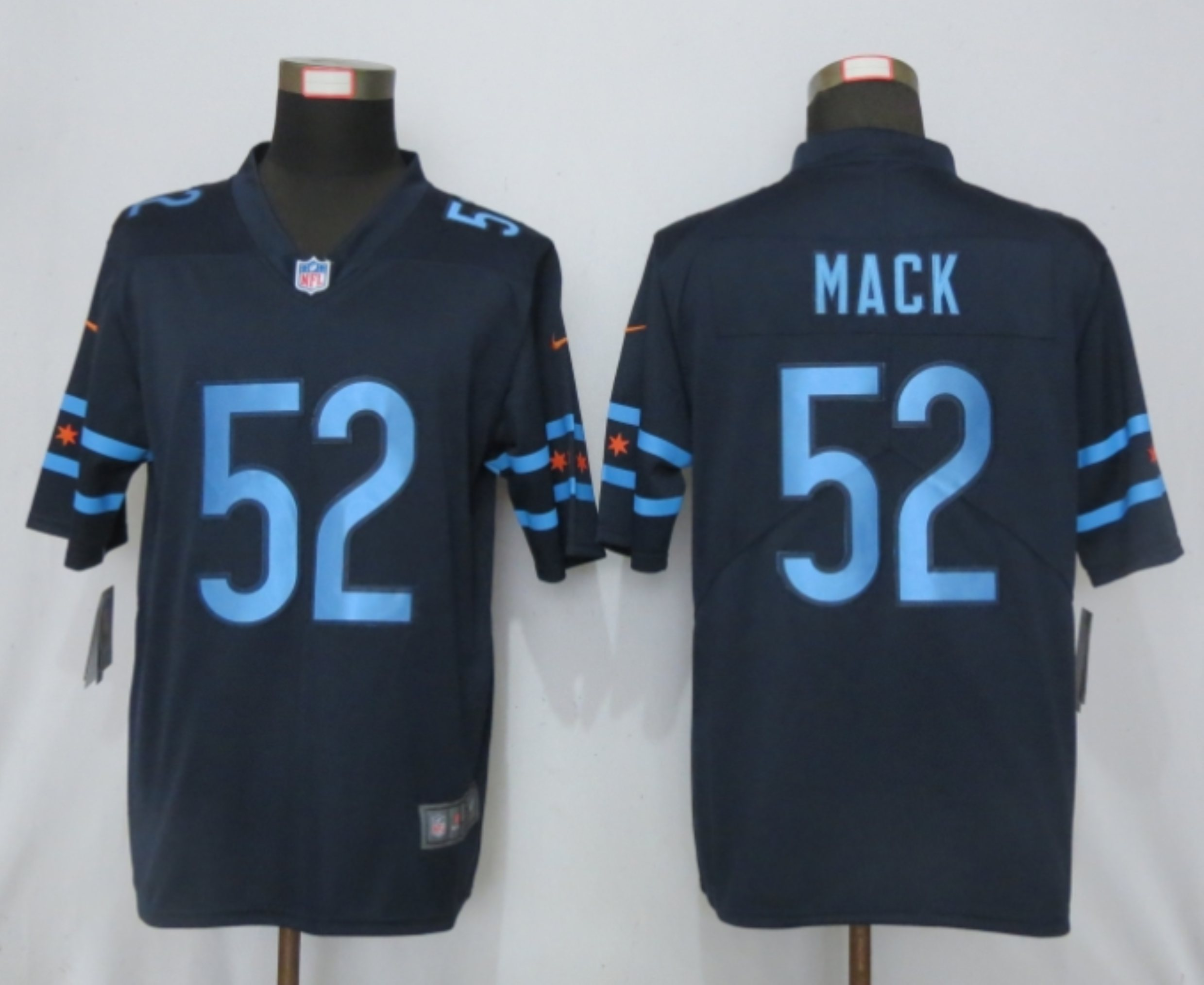 2019 Nike Men Chicago Bears 52 Khalil Mack Navy Vapor Limited City Edition NFL Jersey