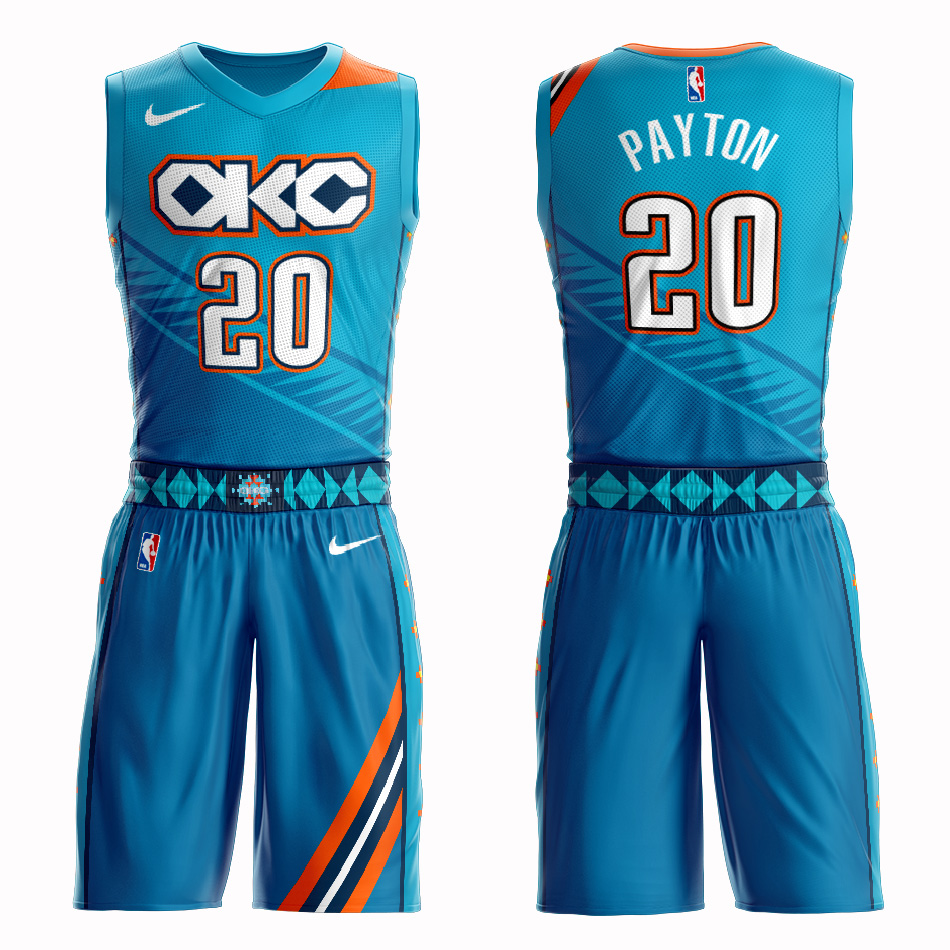 Customized 2019 Men Oklahoma City Thunder 20 Payton blue NBA Nike jersey