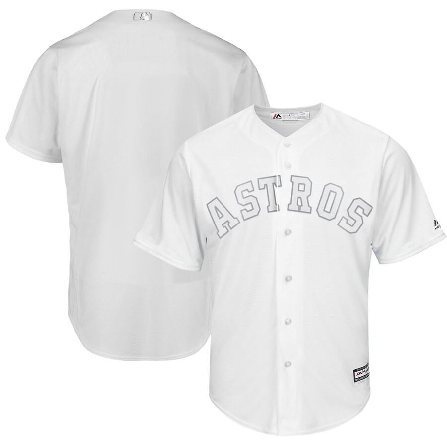 Customized Men Houston Astros white blank MLB Jerseys
