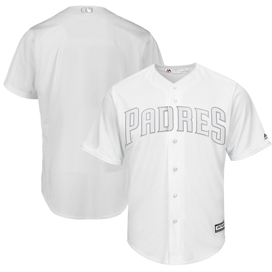 Customized Men San Diego Padres black Blank MLB Jerseys