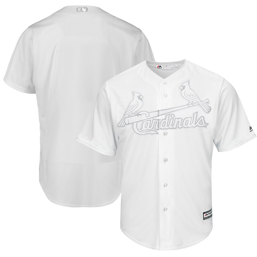 Customized Men St.Louis Cardinals white Blank MLB Jerseys