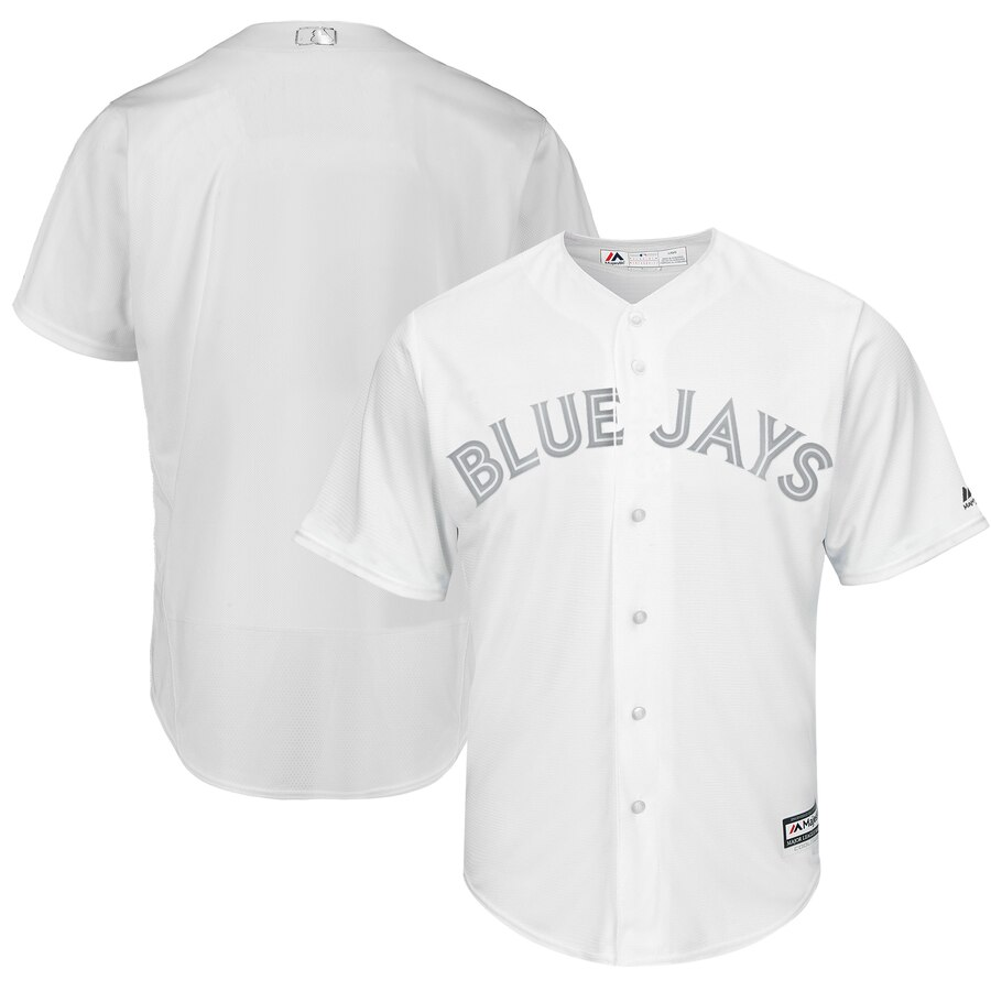 Customized Men Toronto Blue Jays white blank MLB Jersey