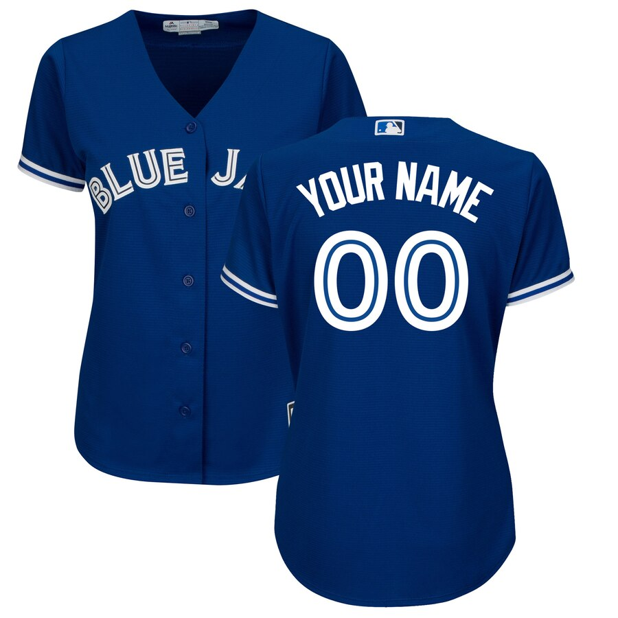 Majestic Toronto Blue Jays Womens Royal Alternate Cool Base Custom Jersey
