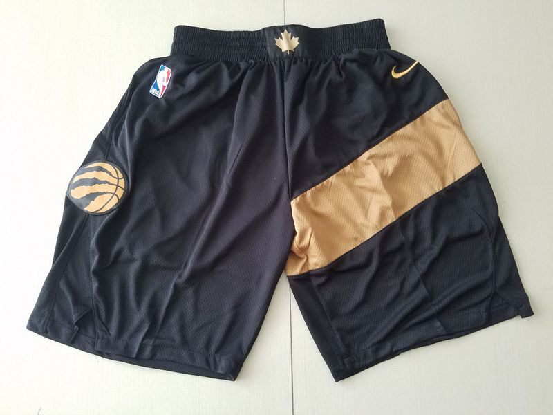 Men 2019 NBA Nike Toronto Raptors black shorts