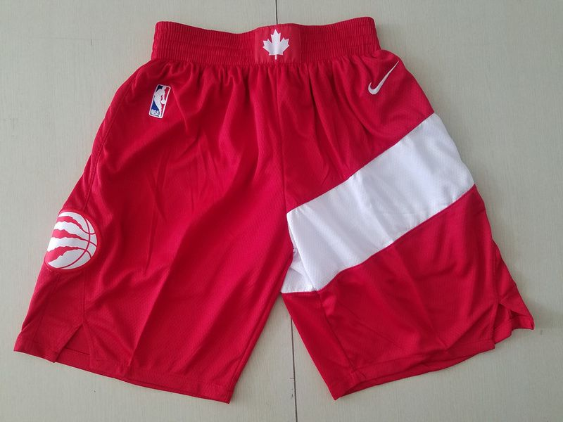 Men 2019 NBA Nike Toronto Raptors red shorts