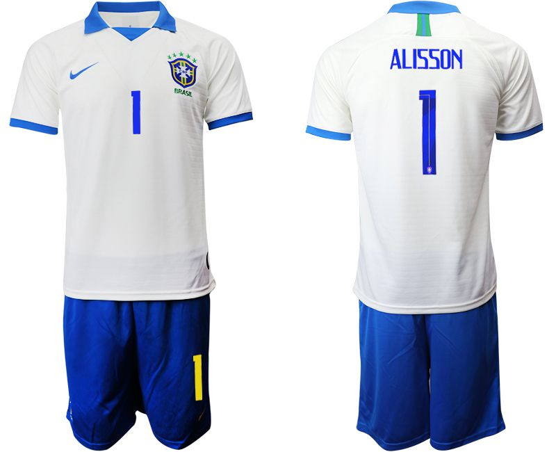 Men 2019-2020 Season National Team Brazil white special edition 1 Soccer Jerseys