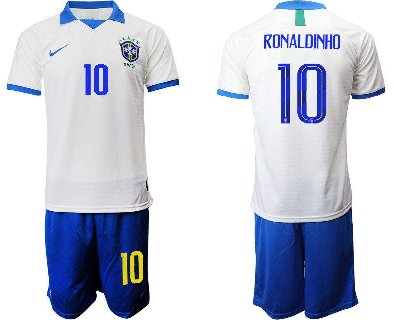 Men 2019-2020 Season National Team Brazil white special edition 10 Soccer Jerseys1