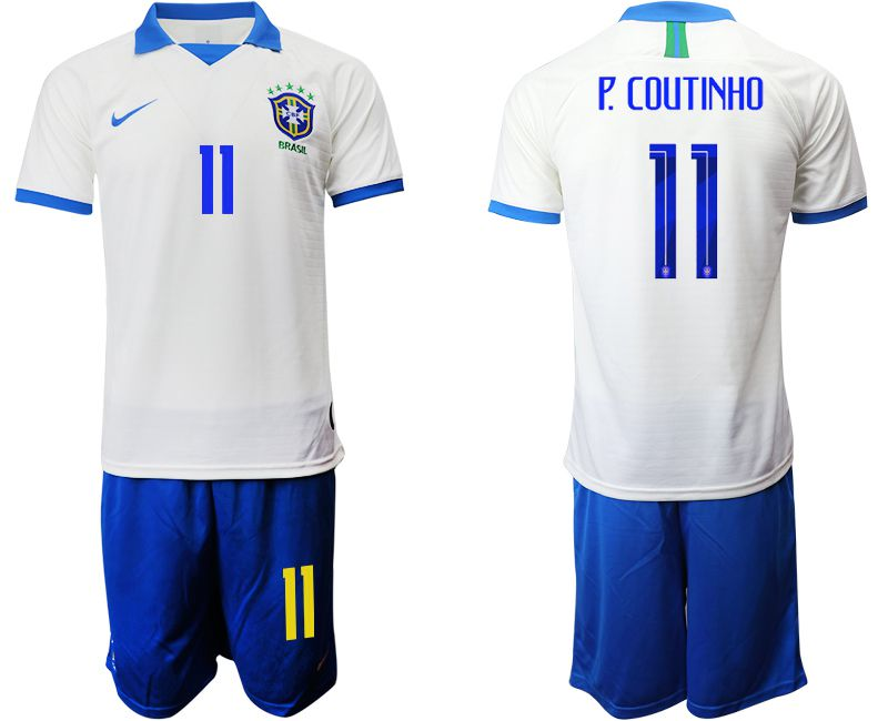 Men 2019-2020 Season National Team Brazil white special edition 11 Soccer Jerseys