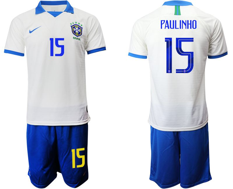 Men 2019-2020 Season National Team Brazil white special edition 15 Soccer Jerseys