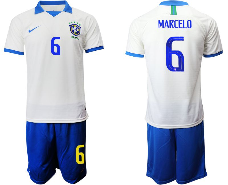 Men 2019-2020 Season National Team Brazil white special edition 6 Soccer Jerseys